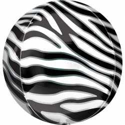Ballon Miroir Zèbre - Ballon Orb Décoration Jungle Safari Zebra