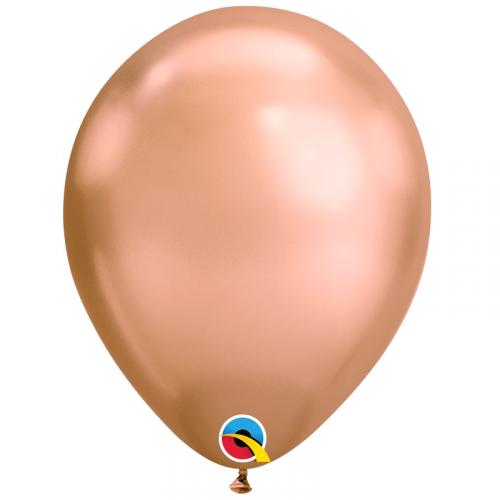 Ballon Chromé Rose Gold à l'unité - nouveauté Qualatex Latex