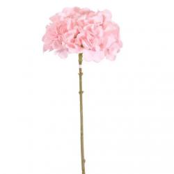 Hortensia Rose Poudré Fleurs Artificielles Premium