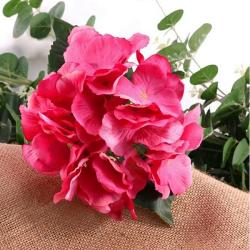 Hortensia Rose Fleurs Artificielles Premium