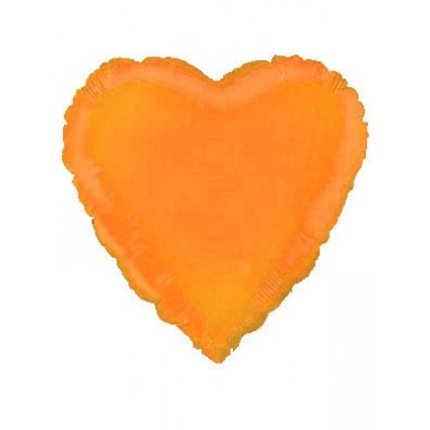 Ballon Coeur Orange