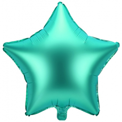 Ballon Etoile en Alu - Vert