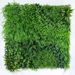 Panneau XL Premium Anti UV 1mx1m pour Mur Végétal Feuilles - Rideau Backdrop