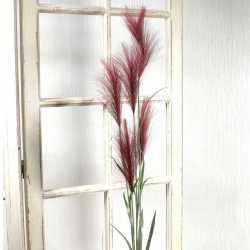 Bouquet 5 tiges de pampas marron clair - Fleurs artificielles