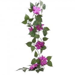 Guirlande de fleurs violettes Clématites - Décoration de table