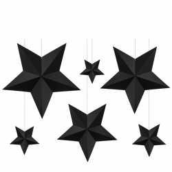 Grandes étoiles blanches à suspendre - Décoration de fête