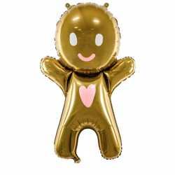 Ballon alu Gingerbread Pain d'épice - Décoration de Noël