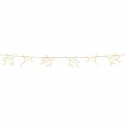 Banderole Fanions Gui en Bois Naturel Noël