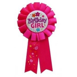 Badge Cocarde Anniversaire Birthday Girl Rose