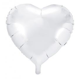 Ballon XL Coeur Blanc en alu