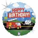 Ballon Hélium Anniversaire Camion de Pompier