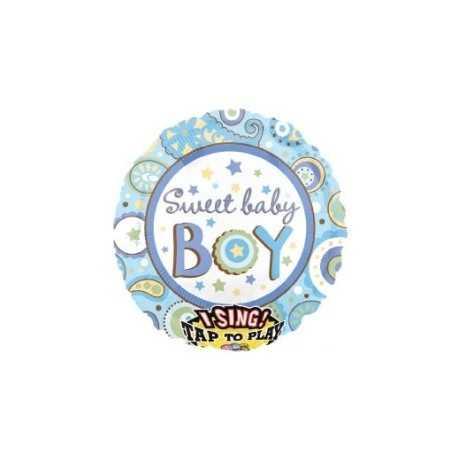 Ballon Hélium Sweet Baby Boy qui Chante!