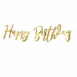 Banderole Happy Birthday Doré Décoration Anniversaire