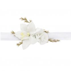 Couronne de fleurs blanches - Accessoire cheveux