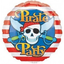 Ballon Alu Anniversaire Pirate Party
