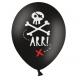 6 Ballons Pirate - Décoration anniversaire