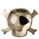 Grandes assiettes Tête de Mort de Pirate pour Anniversaire