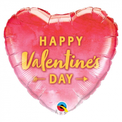 Ballon Joyeuse Saint Valentin - Coeur dégradé