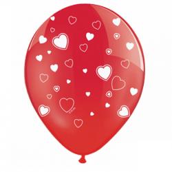 Ballons latex coeur rouge - Décoration Anniversaire