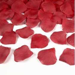 100 pétales de fleurs roses rouges - Décoration de table