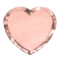 Assiettes en Forme de Coeur Rose Gold