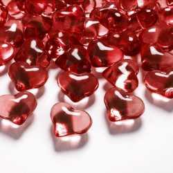 Cristaux coeurs décoration de table coeur rouge - Décoration de table