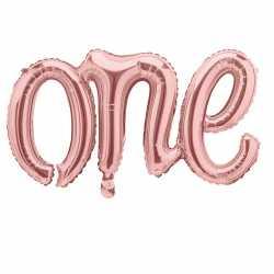 Ballon One Chiffre 1 Un - Numéro Décoration Anniversaire Rose Cuivré Rose Gold