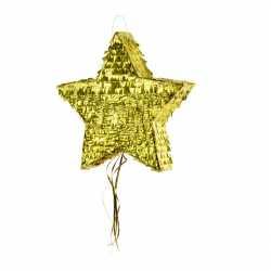 Pinata en forme d'étoile dorée - Animation Anniversaire et Fête