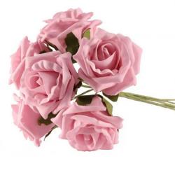 Petit bouquet de fleurs rose pastel - Fleurs Artificielles Mousse