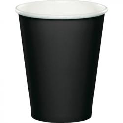 Gobelets en papier noirs