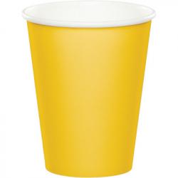 Gobelets en papier jaune