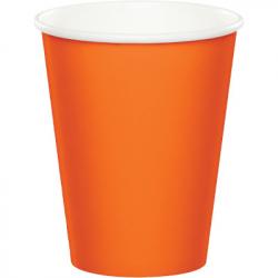 Gobelets en papier orange
