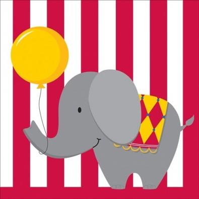 Serviettes Anniversaire Cirque