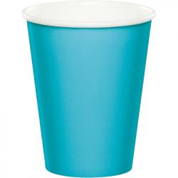 Gobelets Bleu Turquoise en Papier Premium