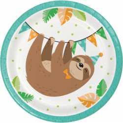 Petites Assiettes Paresseux - Anniversaire Thème Animaux Forêt Amérique du Sud