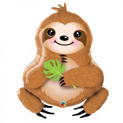 Ballon Rond Paresseux - Décoration Anniversaire Animaux Forêt Amérique du Sud