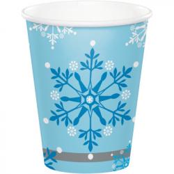 Confettis de table flocons de neige blancs