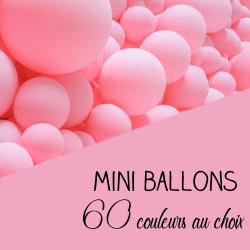 10 Mini ballons organiques à vos couleurs - 60 couleurs au choix