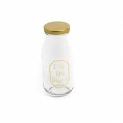 """Petite bouteille de lait """"C'est un garçon"""" en Verre Candy Bar"""