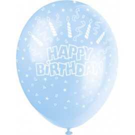 Ballons Latex Happy Birthday Joyeux Anniversaire Garçon