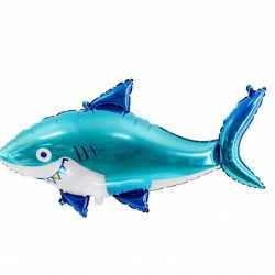 Ballon Alu en Forme de Requin Bleu