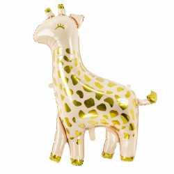Ballon Géant Girafe Animal Beige et Doré