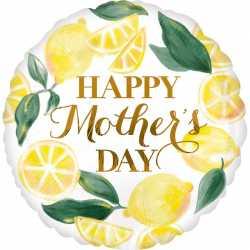 Ballon Rond Lemon Fête des mères - Happy mother day