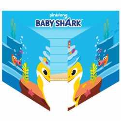 6 Invitations Anniversaire Baby Shark