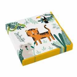 Serviettes en Papier Jungle Safari Anniversaire