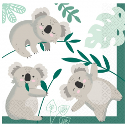 Grandes serviettes en papier Koala Anniversaire à thème