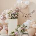 Kit Guirlande Ballons Organiques - Pêche & Blanc nacré Décoration