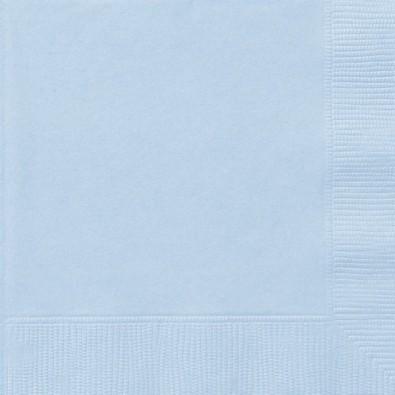Serviettes Cocktail en Papier Bleu