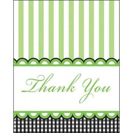 8 Cartes de Remerciements Baby Shower Thème Petits Petons Vert