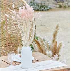 Bouquet de plumeaux roses - Fleurs séchées bohème chic